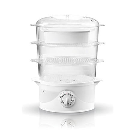 Adler AD 633 Steam cooker, Capacity 9L, 3 transparent and folding trays, TurboSteam, Power 800W