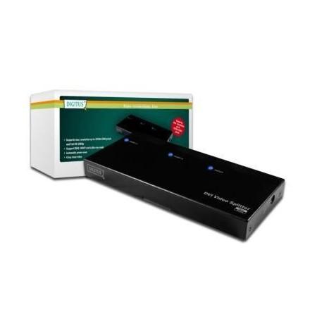 DIGITUS Splitter DVI with audio, 1920x1200p, 2-port.