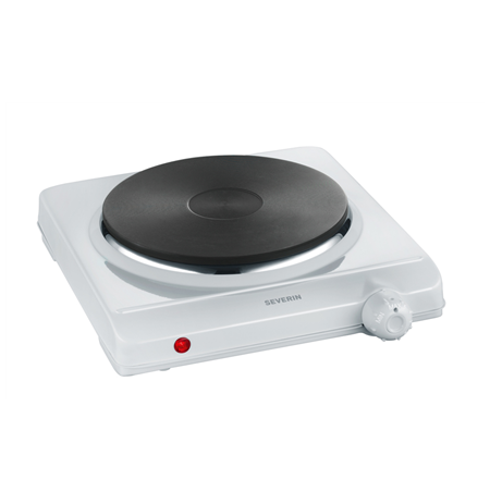 Severin Table hob DK 1091 Number of burners/cooking zones 1, Stainless steel, Control type Rotary, White