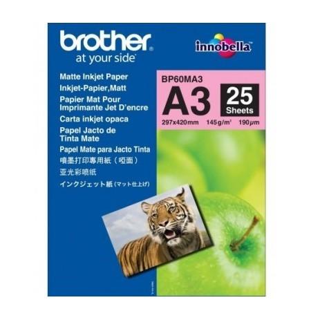 BROTHER MATTE INKJET PAPER A3 (25SH)