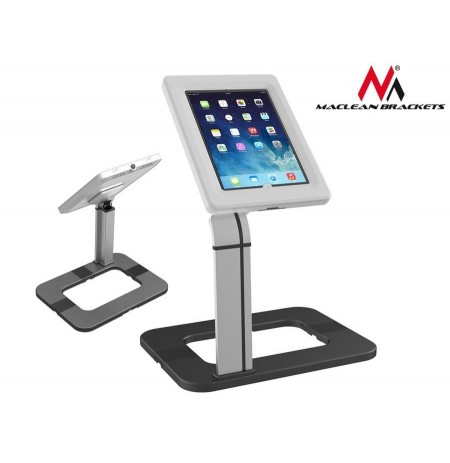 Maclean MC-644 Desk Tablet Stand for Public Displays Lock Anti Theft iPad Samsun