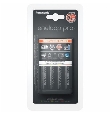Panasonic eneloop Basic Battery Charger  1-4 AA/AAA, 4 x R6/AA 2500 mAh black incl.