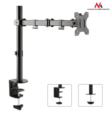 Maclean MC-753 Monitor desk braket 13-32'' 8kg vesa 75x75, 100x100 duble arm