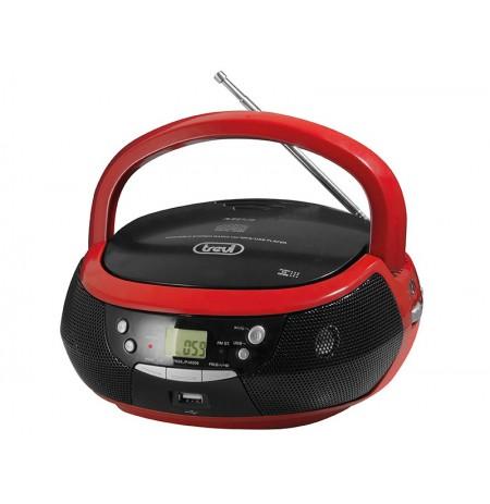 Magn.su rad.CD/mp3 USB TREVI 532(raudona)