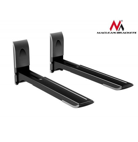 Maclean MC-607 B Microwave Oven Universal Shelf Wall Bracket Adjustable Folding