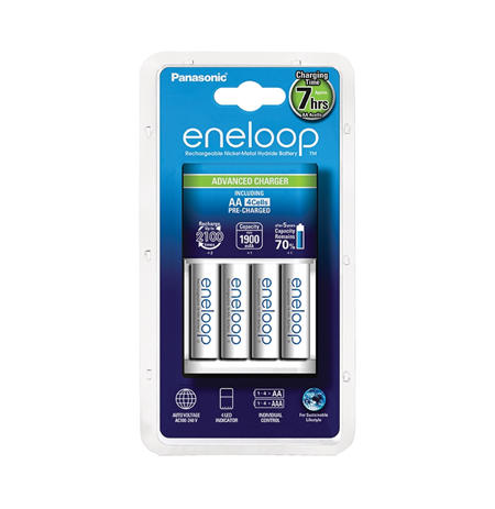 Panasonic eneloop Advanced Battery Charger 1-4 AA/AAA, 4xAA 1900 mAh icl.