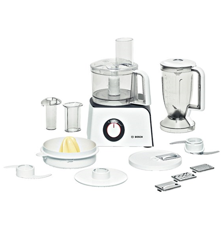 BOSCH MCM 4100 Food processor, 800W, 2 speeds and pulse functions, 8 accessories, Bowl capacity: 2.3L