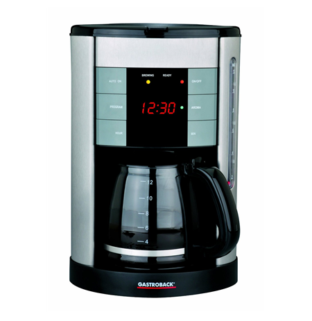 Gastroback 42703 Coffee maker, For 12 cups, 1.7L water tank, LED display with digital clock, Warming function