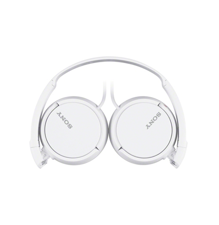Sony headphones MDR-ZX110 Outdoor headband/ White / 30mm driver unit/ 12 - 22,000 Hz/ 24 Ohm/ 98 dB/mW / 1.2m cable